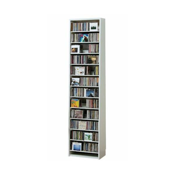 CD 収納 CDラック DVDラック 大容量 スリム ホワイト ラック 白 CD最大540枚収納|arne