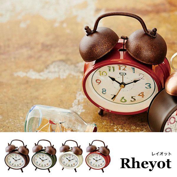 置時計 おしゃれ 北欧 アンティーク レトロ 時計 置時計 インテリア CL-9363 Rheyot テーブルクロック|arne