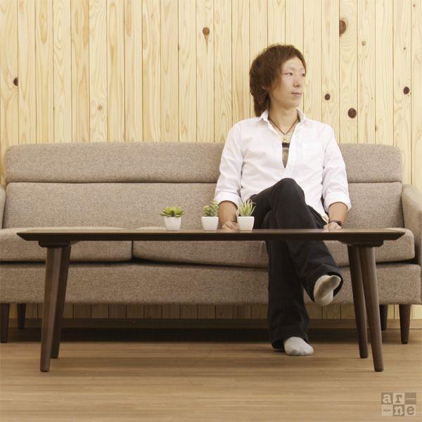 ローテーブル ウォールナット カフェテーブル 丸 テーブル 天然木 おしゃれ 北欧 木製 日本製 Bistro|arne|02
