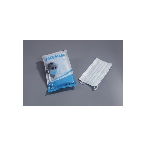 3層不織布 使い捨てフラットプリーツマスク 20枚(10枚入/2袋)|aroma-uchiya