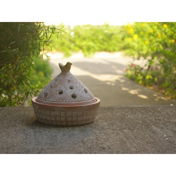 蚊取り線香入れ PeopleTree  ケース小鳥オリエンタルアンティーク調テラコッタ陶器ピープルツリーおしゃれインテリア|aromagestore|05