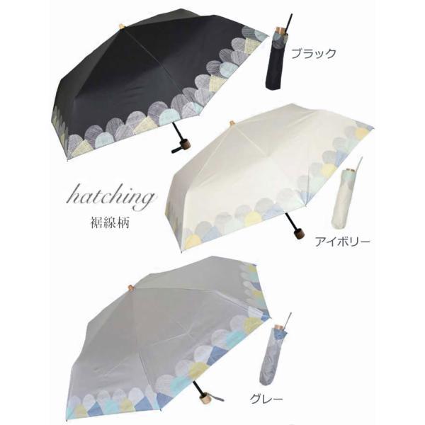 日傘 完全遮光 折りたたみ 傘 かさ 遮光率 100% UVカット 99.9% 紫外線対策 UV対策 晴雨兼用 レディース 裾花柄 ボーダー柄 プロバンス柄|aromaroom|14