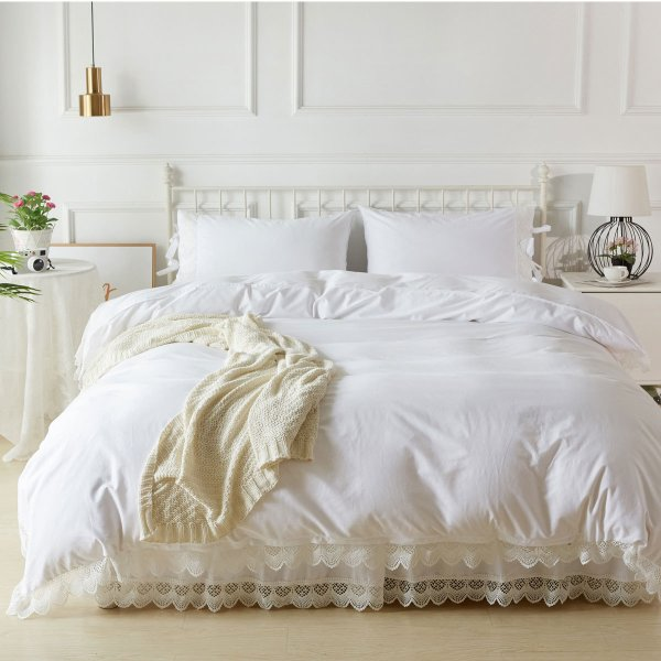 【優勝セール】 ベッドカバー キング アンティークレース ベッド カバー 4点セット|aromaroom|02