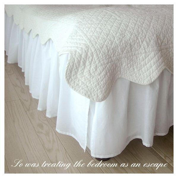【優勝セール】ベッドスカート シングル ナチュラルフリルベッドスカート フリル46cm  aromaroom