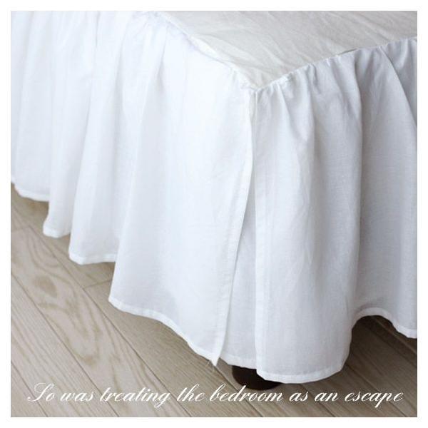 【優勝セール】ベッドスカート シングル ナチュラルフリルベッドスカート フリル46cm  aromaroom 02