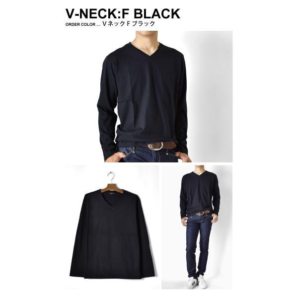 ストレッチTシャツ 無地 長袖Tシャツ ロングTシャツ クルー Vネック メンズ 送料無料 通販M《M1.5》|aronacasual|12