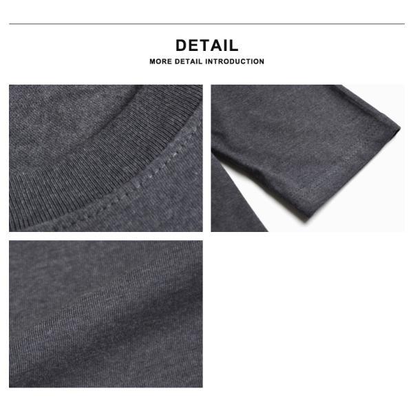 ストレッチTシャツ 無地 長袖Tシャツ ロングTシャツ クルー Vネック メンズ 送料無料 通販M《M1.5》|aronacasual|18