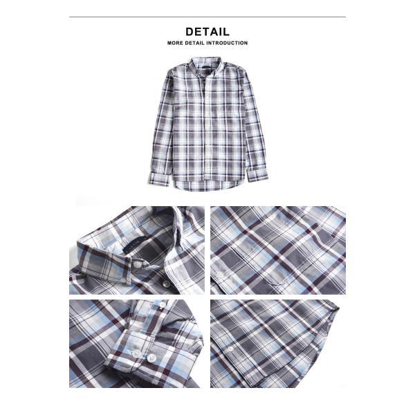 シャツ メンズ チェック柄 長袖 シャツ セール 送料無料 通販M《M1.5》|aronacasual|16