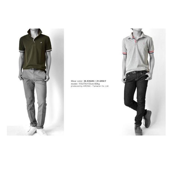 ポロシャツ 半袖 メンズ 送料無料 衿裏配色 カノコ セール 通販M《M1.5》 aronacasual 04