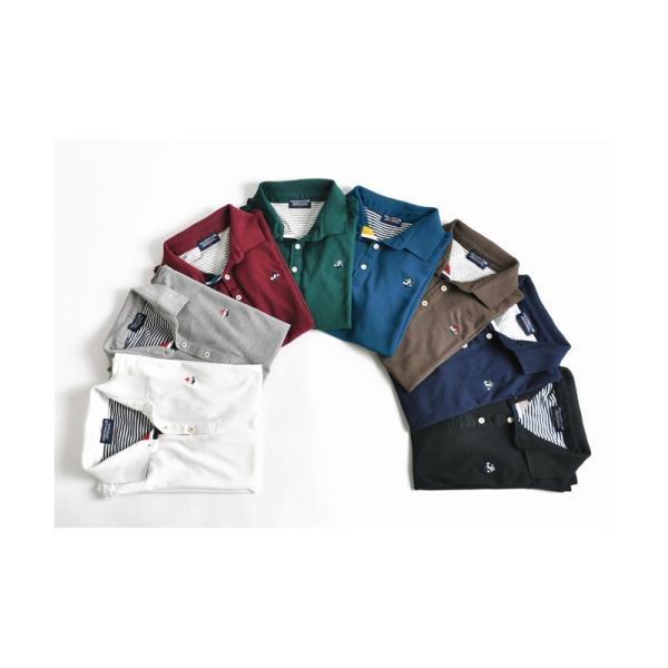 ポロシャツ 半袖 メンズ 送料無料 衿裏配色 カノコ セール 通販M《M1.5》 aronacasual 05