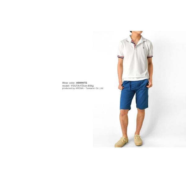 ポロシャツ 半袖 メンズ 送料無料 衿裏配色 カノコ セール 通販M《M1.5》 aronacasual 07