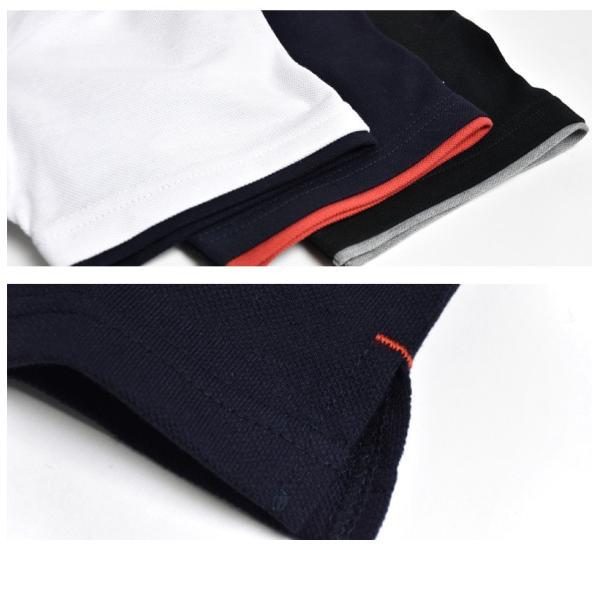 半袖 ポロシャツ メンズ ストレッチ カラー配色 セール 送料無料 通販M《M1.5》|aronacasual|05