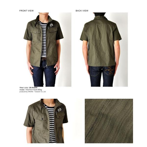 ミリタリージャケット シャツ 半袖 送料無料 サマージャケット メンズ 通販Y|aronacasual|12