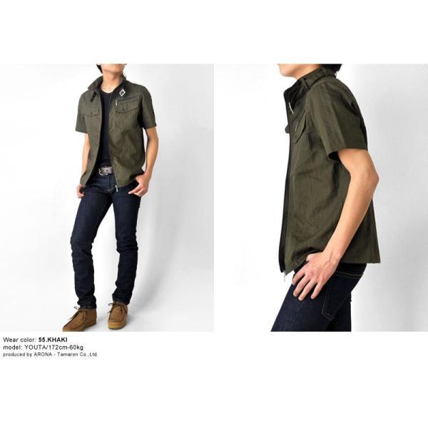 ミリタリージャケット シャツ 半袖 送料無料 サマージャケット メンズ 通販Y|aronacasual|05