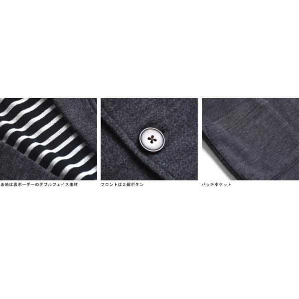 伸びる ストレッチ テーラードジャケット メンズ 裏ボーダー 送料無料 通販Y|aronacasual|12