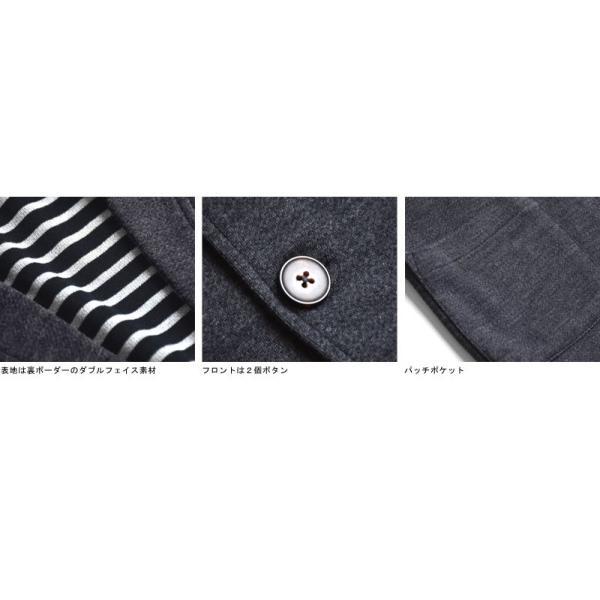 伸びる ストレッチ テーラードジャケット メンズ 裏ボーダー 送料無料 通販Y|aronacasual|15