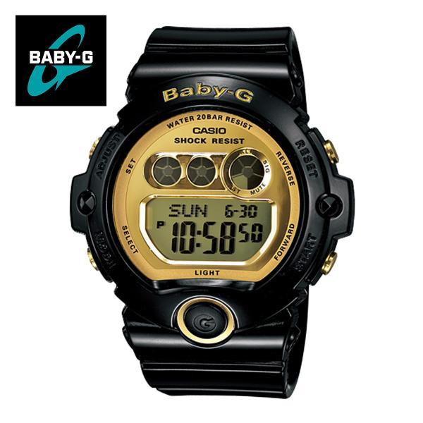 【安心二年保証】CASIO カシオ Baby-G BG-6901-1 三つ目 デジタル ブラック・ゴールド 腕時計 黒色 金色 スポーツウォッチ 防水 軽量 ボーイズ|around
