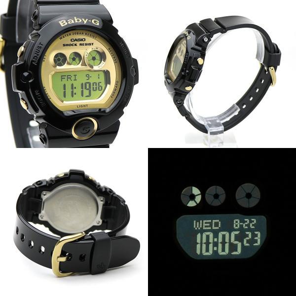 【安心二年保証】CASIO カシオ Baby-G BG-6901-1 三つ目 デジタル ブラック・ゴールド 腕時計 黒色 金色 スポーツウォッチ 防水 軽量 ボーイズ|around|02