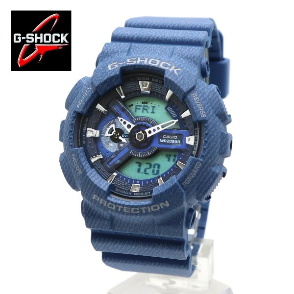 0cad8faade G-SHOCK(ジーショック)CASIO(カシオ)GA-110DC-2A 腕時計 デニムカラー(DENIM'D COLOR)アナログ デジタル  インディゴ ブルーデニム