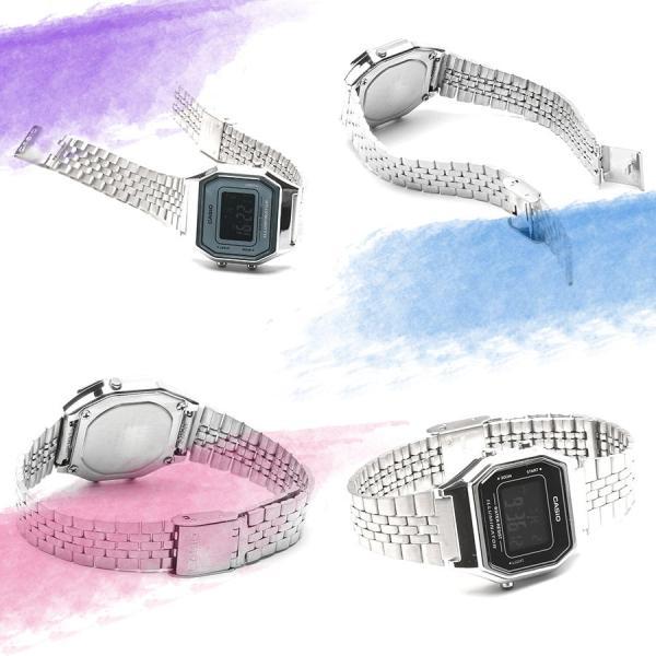 CASIO (カシオ)  選べる3色 ミニサイズ デジタル 時計 女性用 腕時計 LA680WA LA-680WA レディース・キッズ ウォッチ around 04
