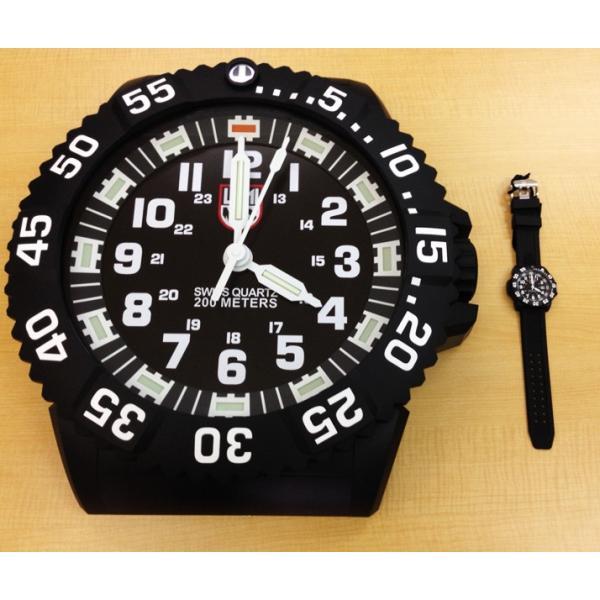 LUNINOX ルミノックス BIG40 Wall Clock ウォールクロック 掛け時計 BIG.40 壁掛け時計 大型 静音 LED 激レア|around|03
