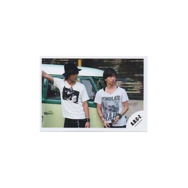 橋本良亮&河合郁人(A.B.C-Z)公式生写真/目線右方向・衣装白×黒|arraysbook