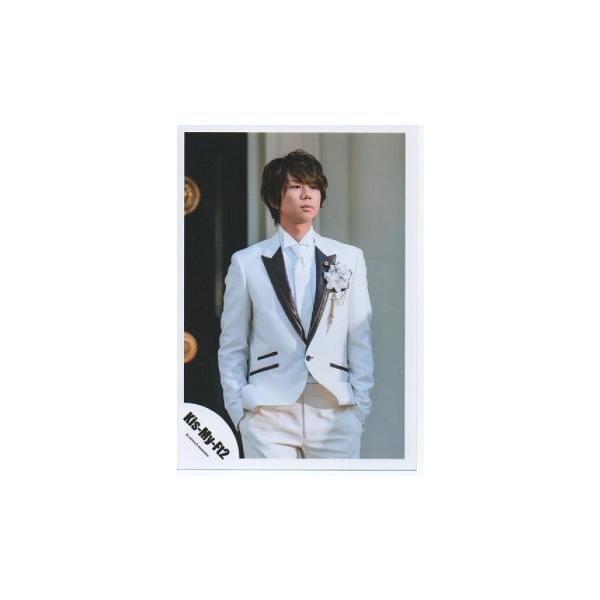 北山宏光(Kis-My-Ft2/キスマイ) 公式生写真/君のいる世界・衣装白×黒・ポッケに手入れ|arraysbook