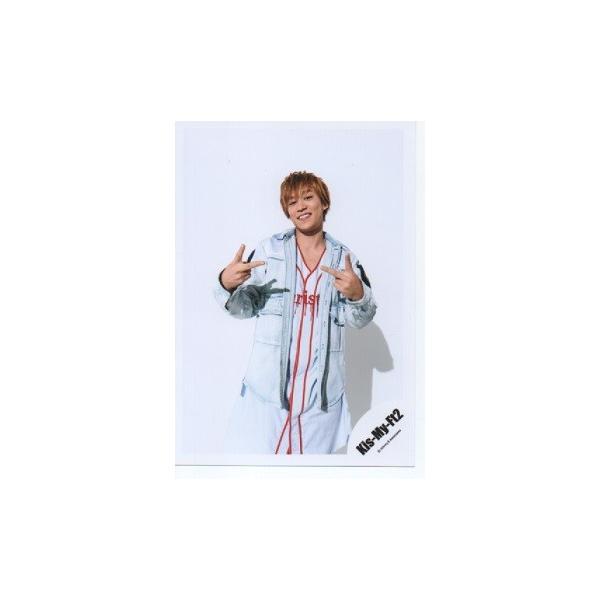 千賀健永(Kis-My-Ft2/キスマイ) 公式生写真/Yummy!! you&me 2018・衣装白赤・カメラ目線・両手ピース|arraysbook