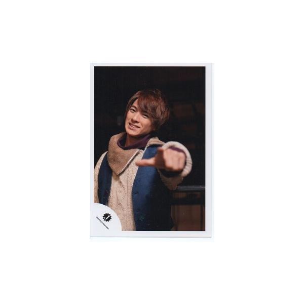 平野紫耀(キンプリ) 公式生写真/2015 新春ジャニーズワールド・衣装薄茶色×青×紫・Jロゴ・カメラ目線・指差し|arraysbook