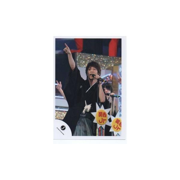 濱田崇裕(ジャニーズWEST) 公式生写真/Jロゴ・衣装黒・右手人差し指立て・マイク持ち|arraysbook