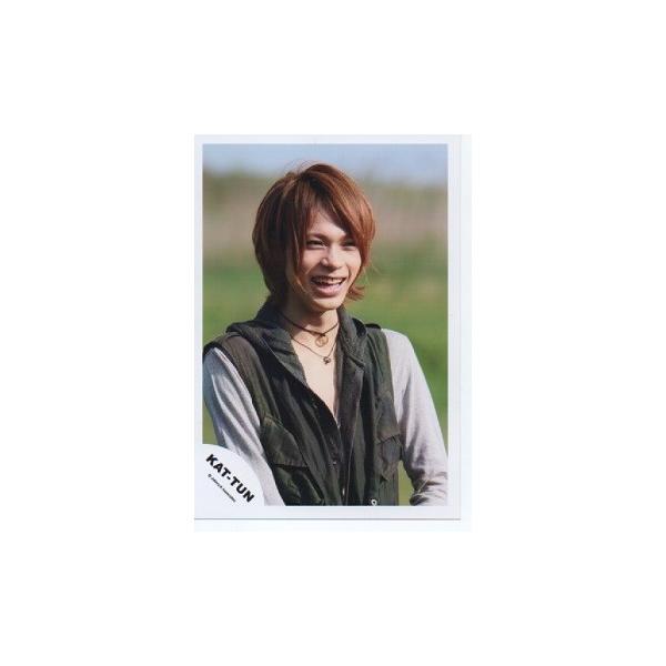 上田竜也(KAT-TUN) 公式生写真/衣装黒×白・口開け・目線若干右・笑顔 arraysbook