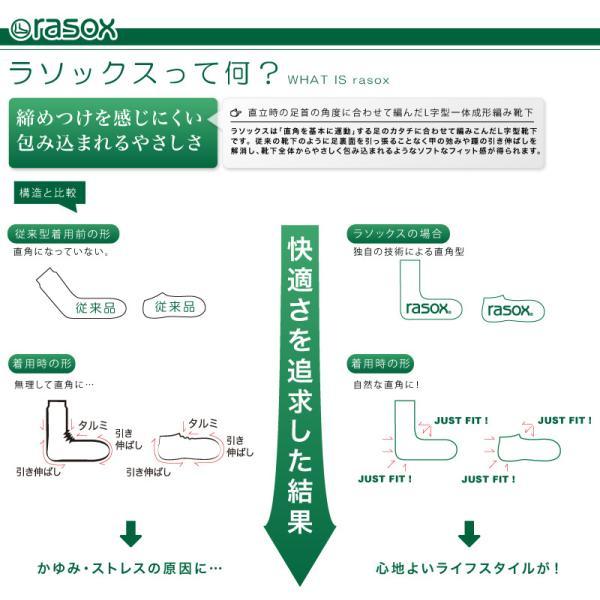 ラソックス rasox 靴下 ソックス ベーシック メンズ レディース 日本製 BA100CR17|arrowhead|05