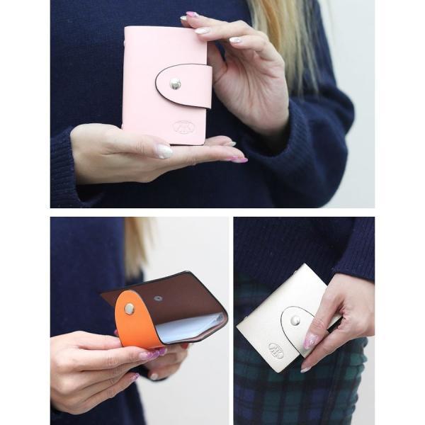 カードケース 12枚収納 全9色 磁気防止 薄型 レザー スリム カード入れ 男女兼用 m1806 ポイント消化 送料無料|arsion|03