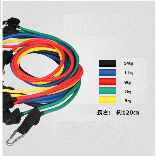 トレーニングチューブ 2本セット フィットネスチューブ 5〜14kg負荷 エクササイズ 筋トレ ダイエット ストレッチ用|arsion|02