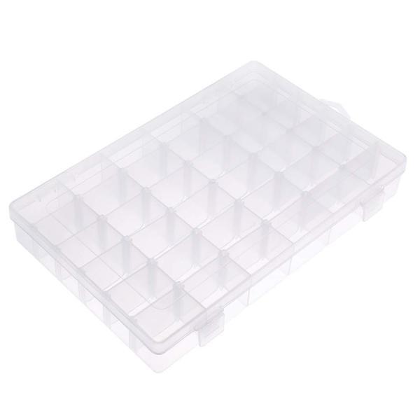 パーツケース パーツ入れ 収納ボックス ジュエリー収納 アクセサリー収納 仕切り移動可能 透明ボックス 雑貨入れ36グリッド