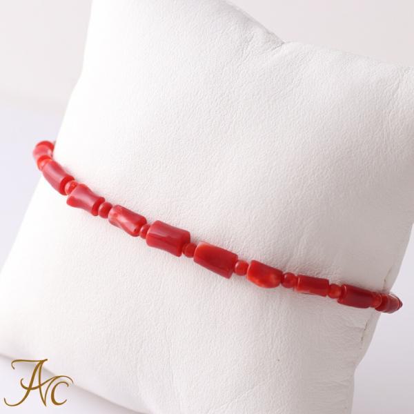 日本産血赤珊瑚<枝>ブレスレット