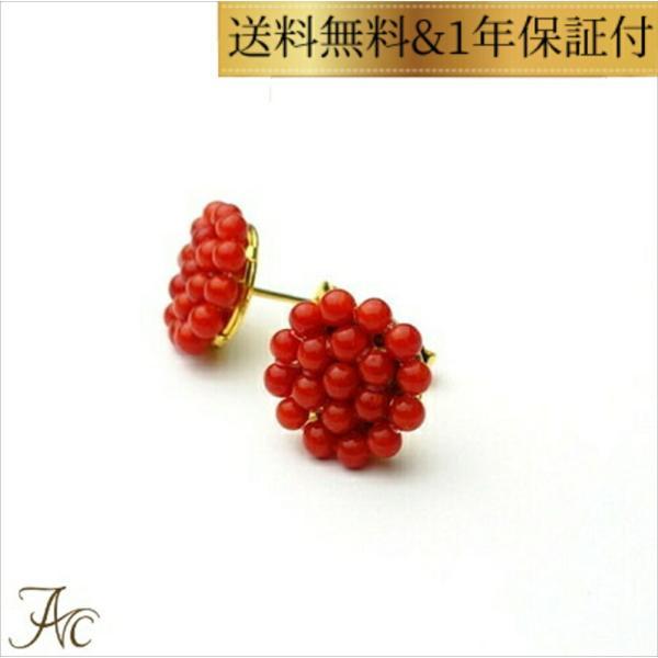 赤珊瑚あ・み・あ・みピアス