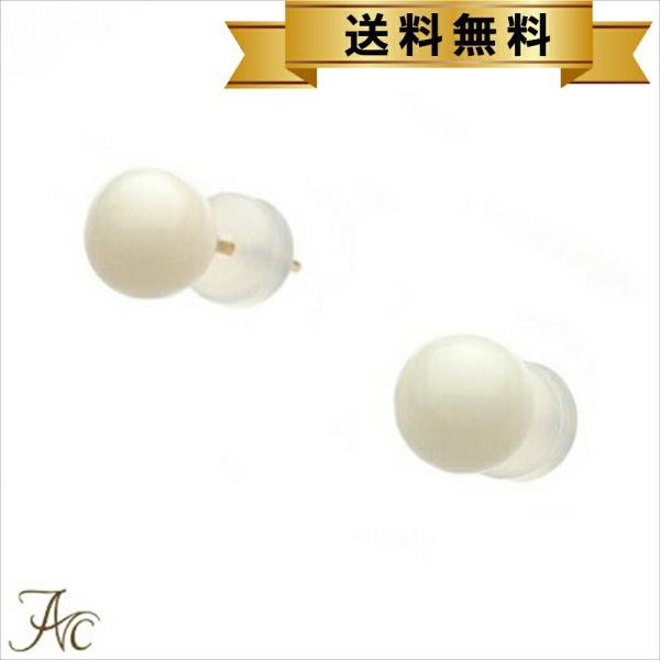 ☆☆白珊瑚6ミリ玉K18ピアス