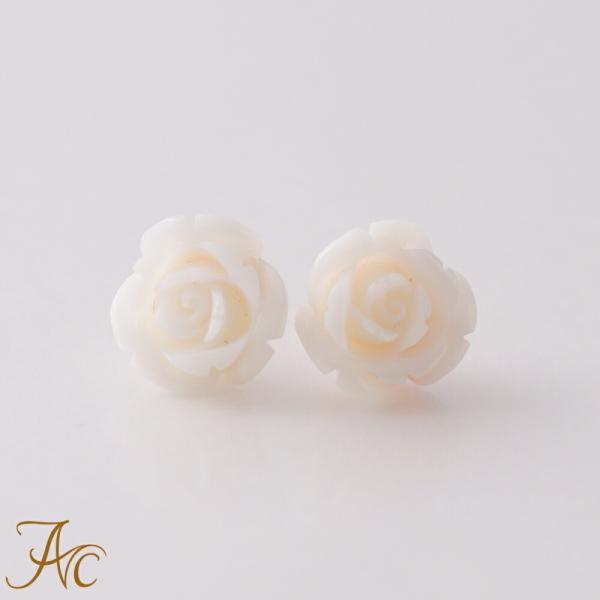 ミス珊瑚<薔薇>K18ピアス