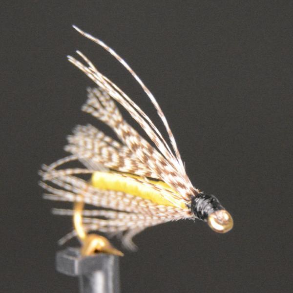 ウエットフライ(wet fly) イエローソフトハックル 激安 フライフィッシング 渓流 完成フライ 管理釣り場