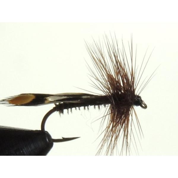 ドライフライ(dry fly) ジャシッド・ブラック #13 フライフィッシング 渓流 完成フライ 管理釣り場
