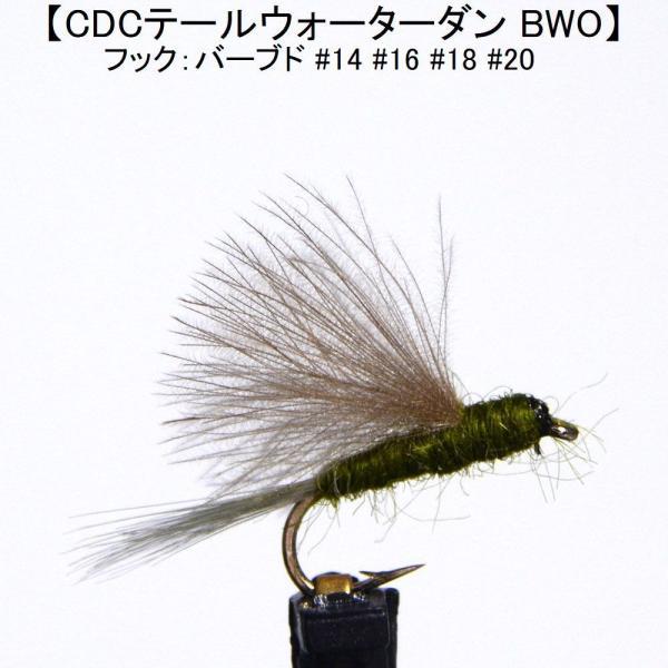 ドライフライ(dry fly) CDCテールウォーターダン BWO 激安 フライフィッシング 渓流 完成フライ 管理釣り場