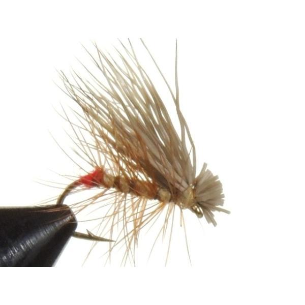 ドライフライ(dry fly) ホットバットエルクヘアカディス タン 激安 フライフィッシング 渓流 完成フライ 管理釣り場