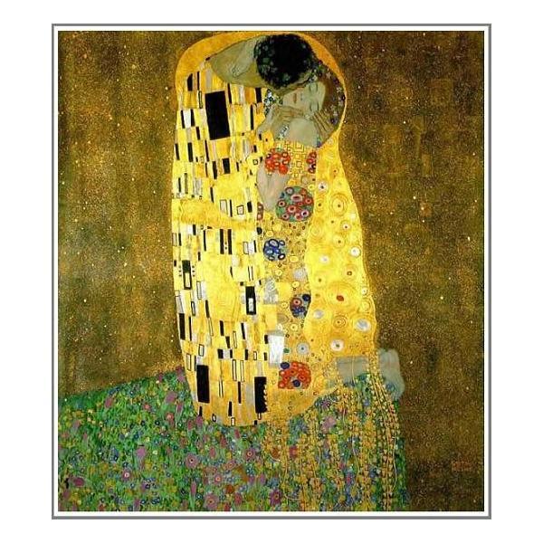 複製画 送料無料 絵画 油彩画 油絵 模写グスタフ・クリムト「接吻」F10(53.0×45.5cm)プレゼント 贈り物 名画 オーダーメイド 額付き 直筆|art-meigakan0717
