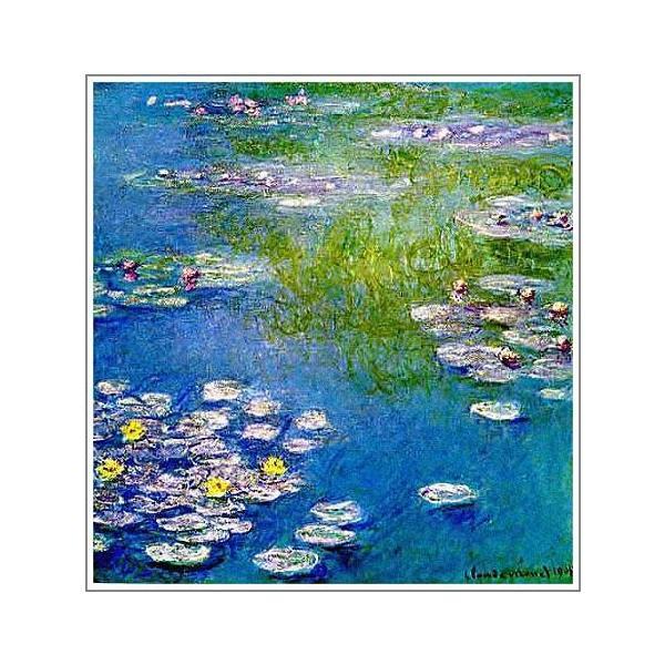 複製画 送料無料 絵画 油彩画 油絵 模写クロード・モネ「睡蓮〜青とピンク〜」F10(53.0×45.5cm)プレゼント 贈り物 名画 オーダーメイド 額付き 直筆|art-meigakan0717