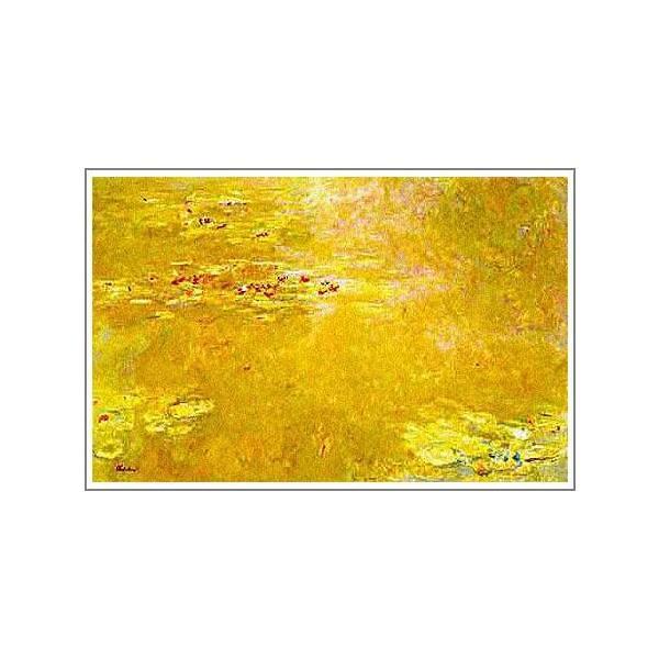 複製画 送料無料 絵画 油彩画 油絵 模写クロード・モネ「睡蓮〜黄金色〜」F10(53.0×45.5cm)プレゼント 贈り物 名画 オーダーメイド 額付き 直筆|art-meigakan0717