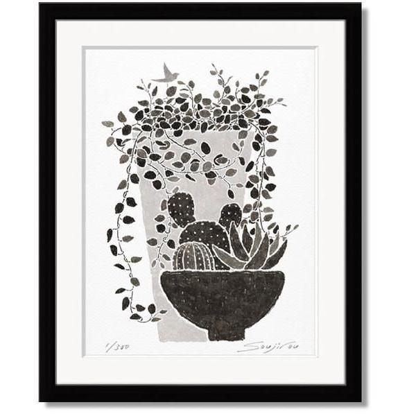 藤谷壮仁郎・ワイヤープランツと多肉植物(絵画・版画)