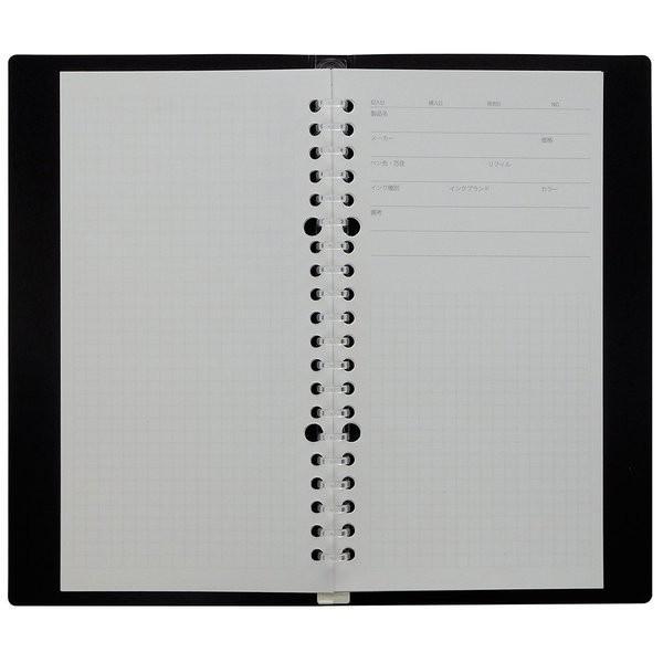 マルマン プラスチックバインダー puo(ピュオ) スリムA5 筆記具試し書き用バインダー F-OKB (DM便不可) artandpaperm 03