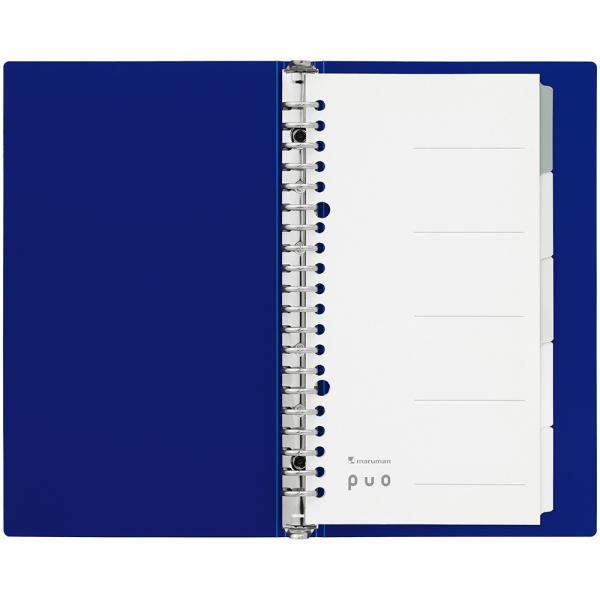 ファイルノート puo(ピュオ) スリムA5(224×133mm) メタルバインダー F067【maruman/マルマン】[DM便不可] artandpaperm 02