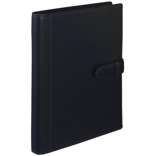 名入れ・ラッピング無料! マルマン ジウリスファイルノート 革製表紙 B5 26穴 ブラック F25-05  (DM便不可) maruman|artandpaperm